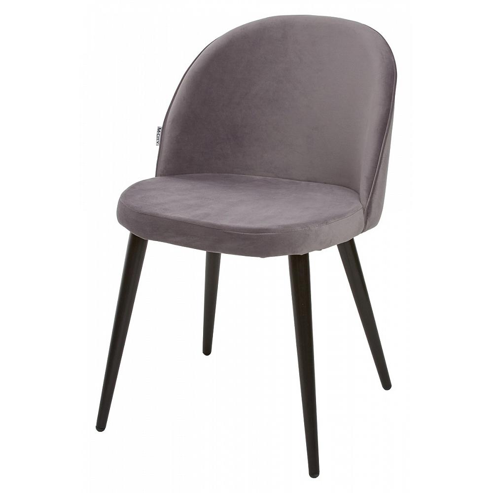 Серый стул для кухни, велюр (арт. М3453)