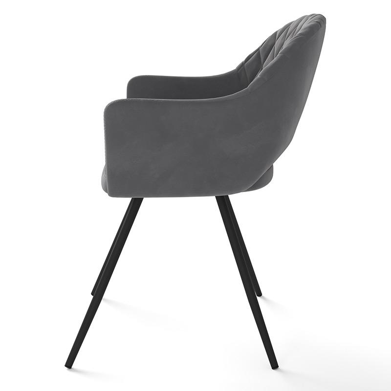 Комфортный стул для кухни велюр серый (арт. М3376)