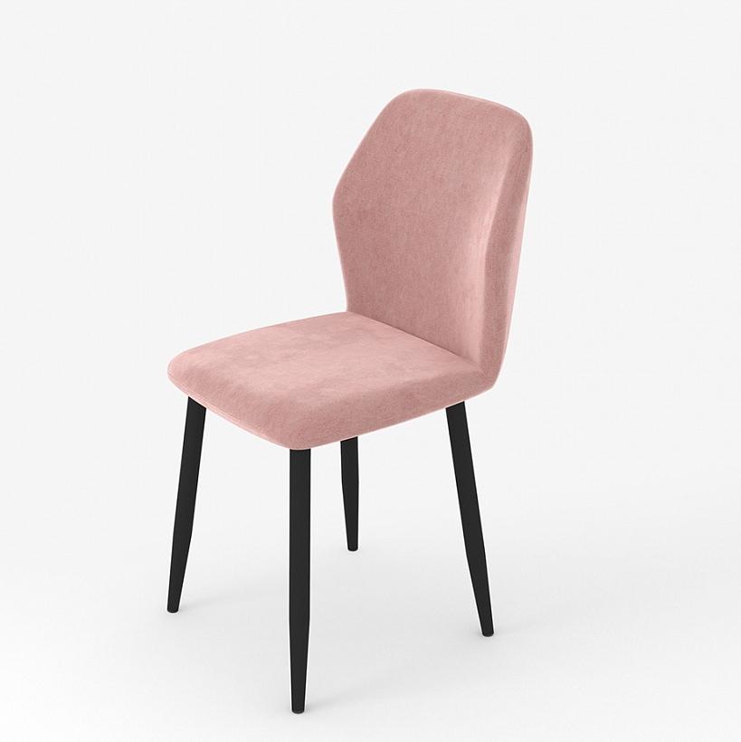 Стул светло-розовый, металлические ножки, вельвет (арт. М3384)
