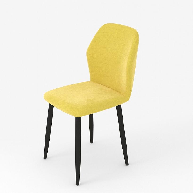 Яркий желтый стул для кухни, ткань вельвет (арт. М3385)