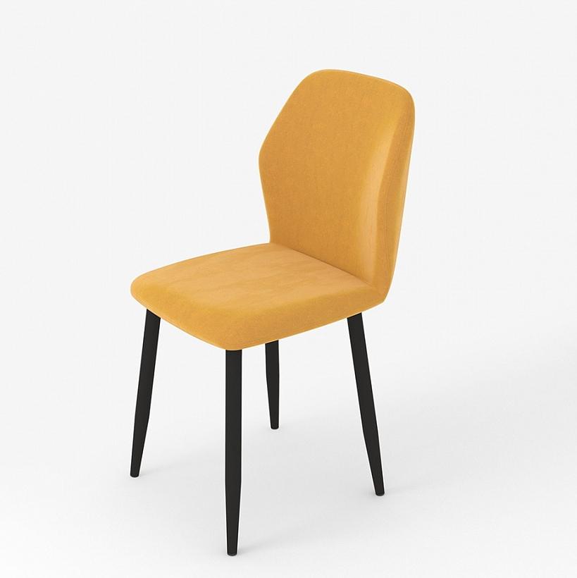 Оранжевый мягкий стул для кухни на металлических ножках (арт. М3388)