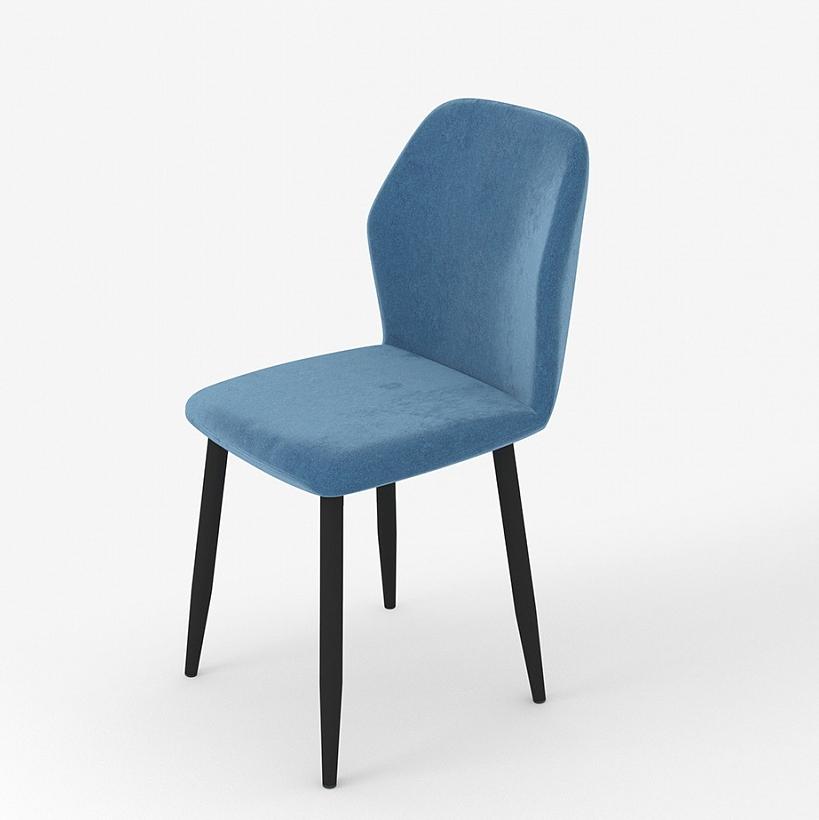 Мягкий стул для кухни, цвет синий, ткань вельвет (арт. М3389)