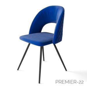 Синий мягкий стул М3411