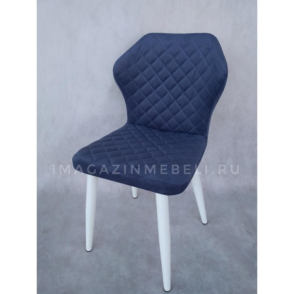 Синий стул для кухни, микрофибра (арт. М3499)
