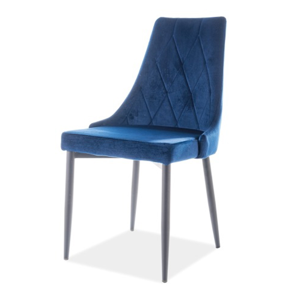 Синий стул для кухни, велюр (арт. М3507)