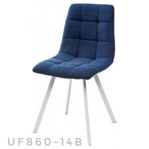 Синий стул с белыми ножками M3438