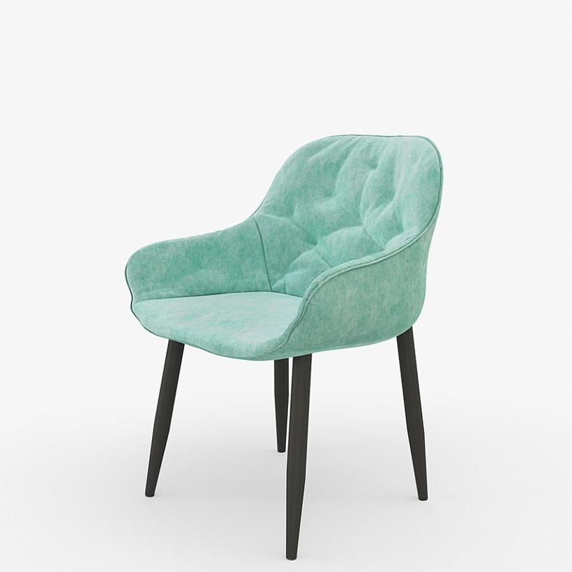 Мягкий стул для кухни мятного цвета (арт. М3400)