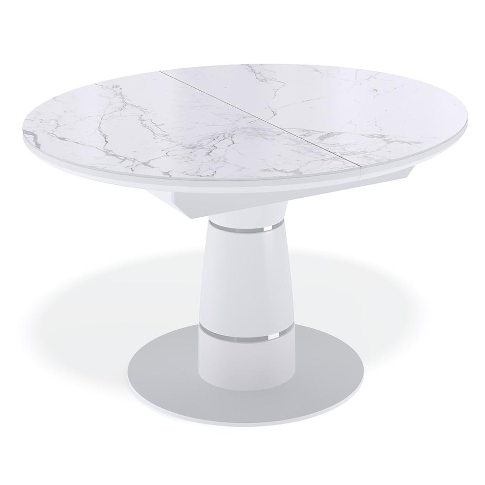 Современный белый стеклянный стол 110х100 см. (арт. М4522)