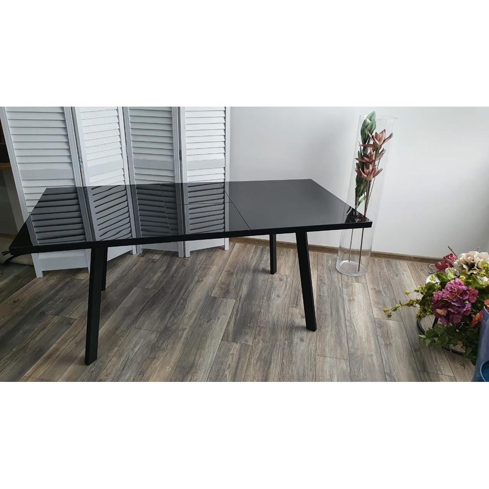 Стол обеденный раздвижной черный (арт. М4528)