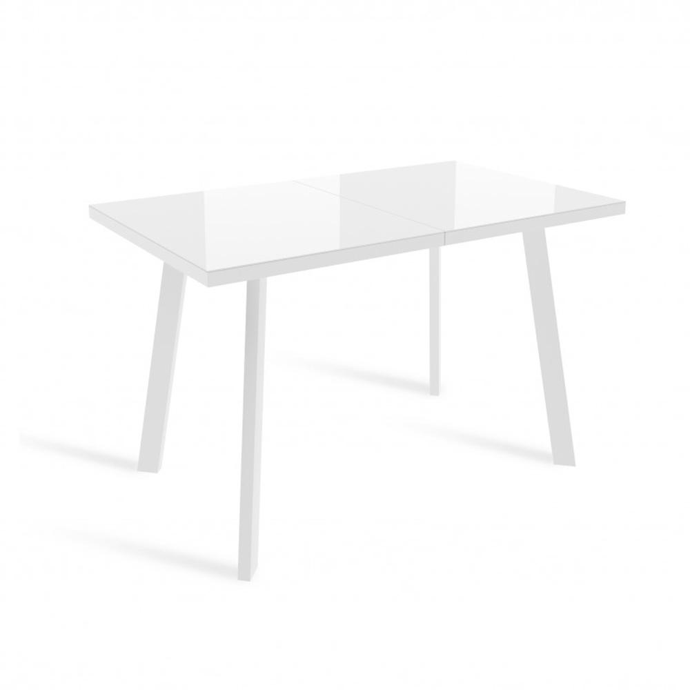 Стеклянный прямоугольный стол 120х70 см., белый (арт. М4525)