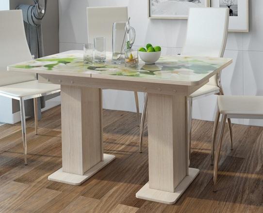 Обеденный стол с фотопечатью Дуэт венге 120х80 см. (арт. М4493)