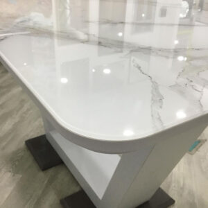 Стеклянный стол под мрамор М4524