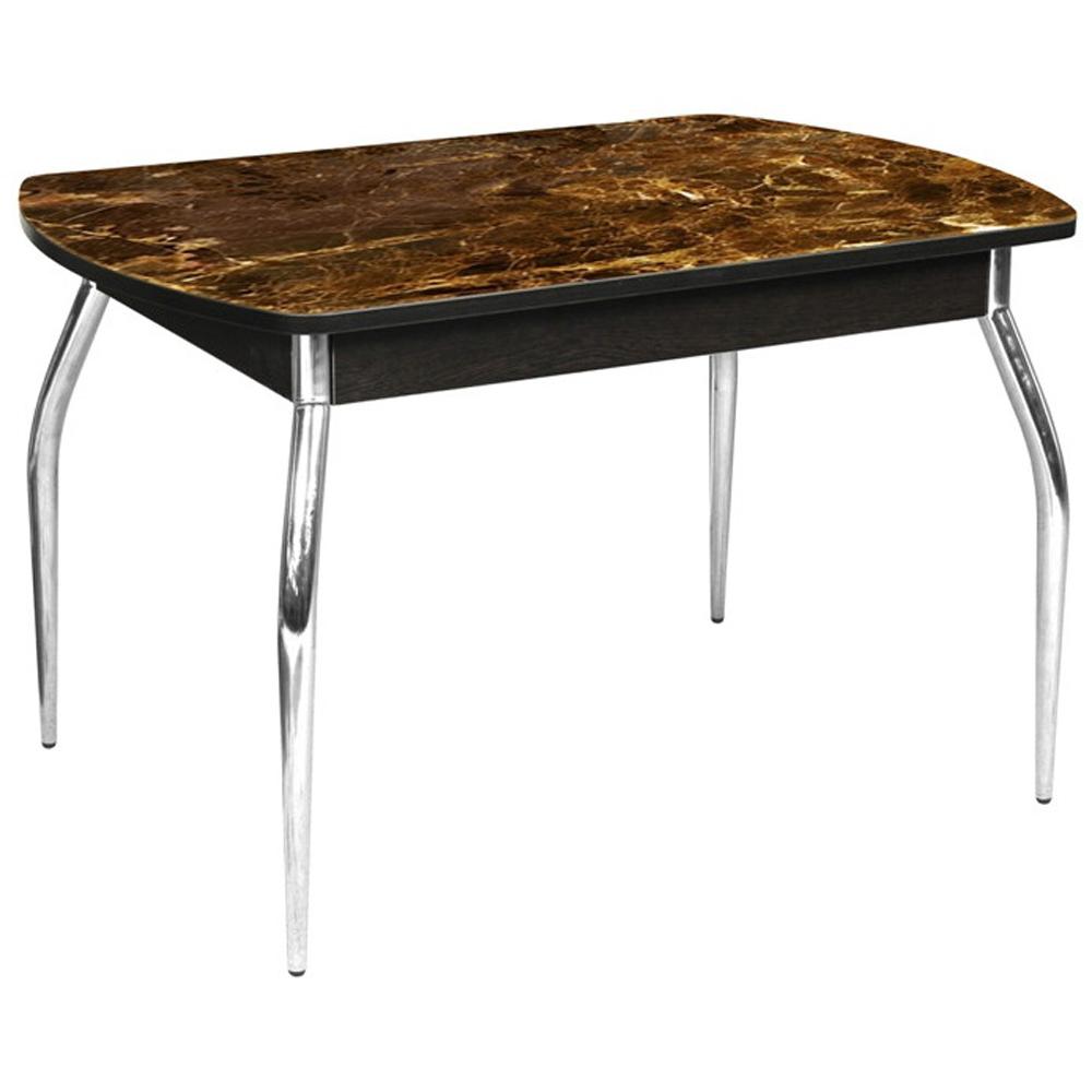 Стол с фотопечатью — имитация камня, со стеклом 110х70 см., венге (арт. М4552)