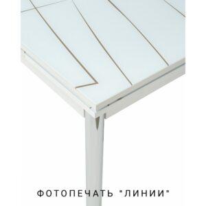 Стеклянный стол с рисунком линии M4465