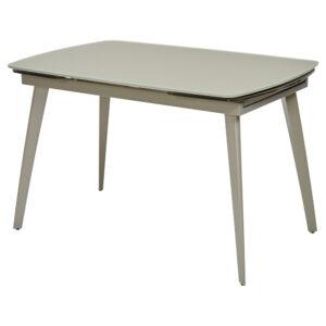 Стеклянный стол цвет шампань М4487