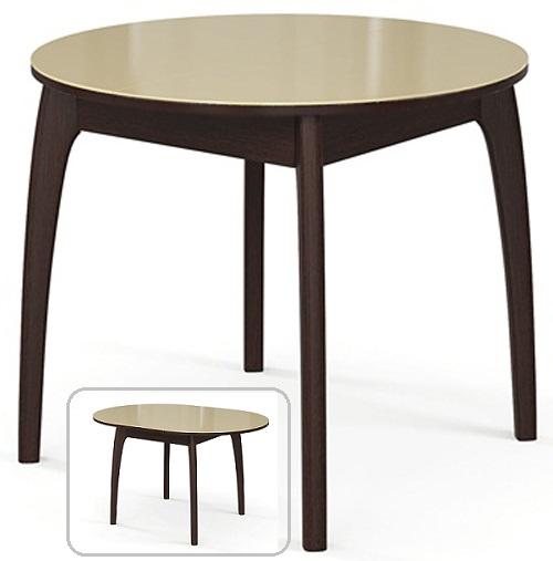 Стол раздвижной круглый 90-125 см. венге-бежевый (арт. М4271)