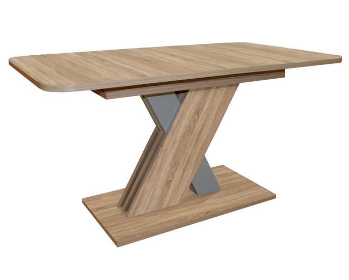 Современный обеденнй стол 140х85 см. раздвижной (арт. М4437)