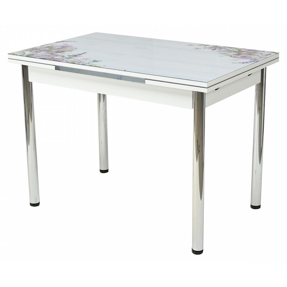 Кухонный стол с фотопечатью «Акварельные цветы» (арт. М4464)