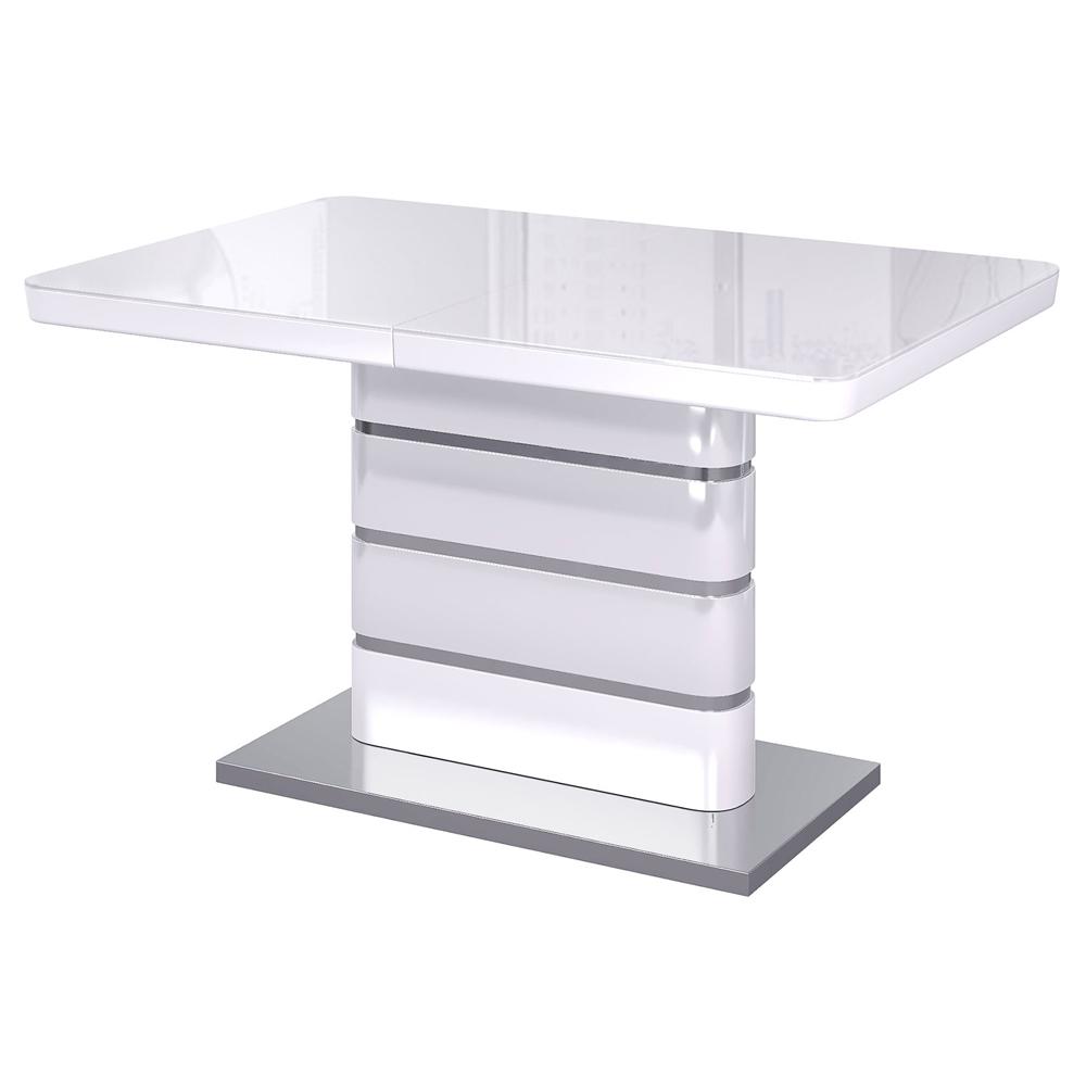 Стол Альфа 120х80, оптивайт глянец белый (арт. М4467)