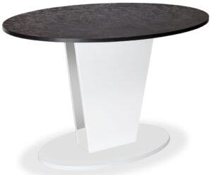 Стол COSMO 120 ML White Камень темный, ножка белый глянец м4513
