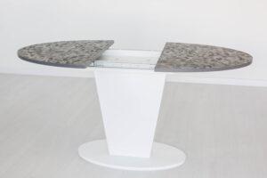 Стол COSMO 120 ML White белая ножка столешница под камень
