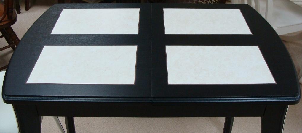 Кухонный стол с плиткой керамической Домино-1 МР венге-амбер, 90х60 см. (М4358)