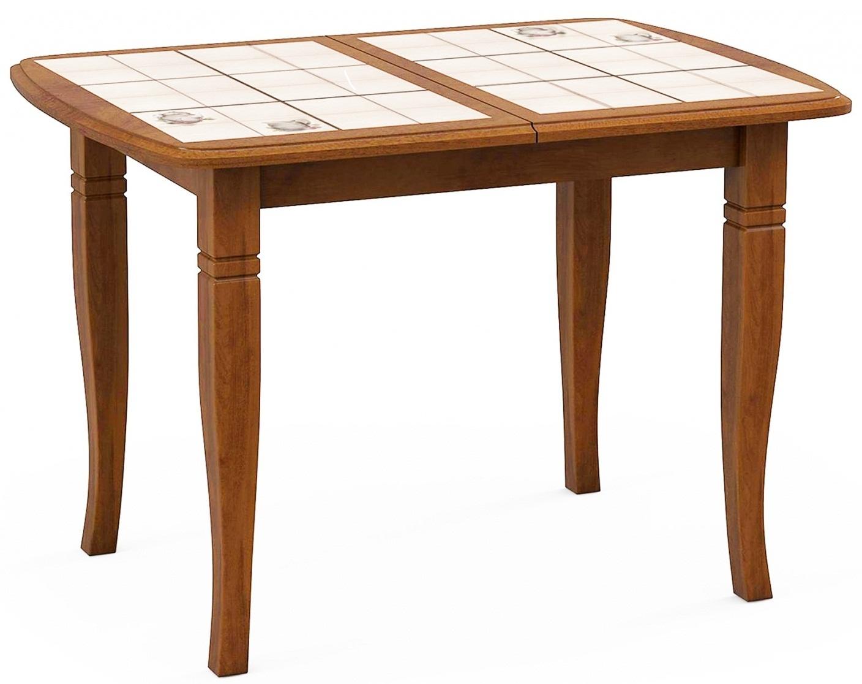 Стол с плиткой Домино-2О дуб комфорт, ноги D (арт. М4360)