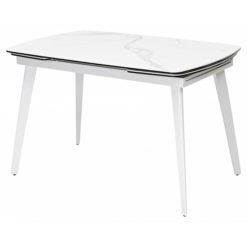 Стол ELIOT 120 белый мрамор, керамика (арт. М4460)