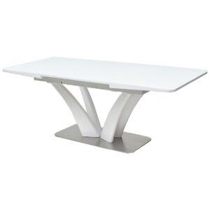 Стол FREYA 160 WHITE GLASS белый глянец