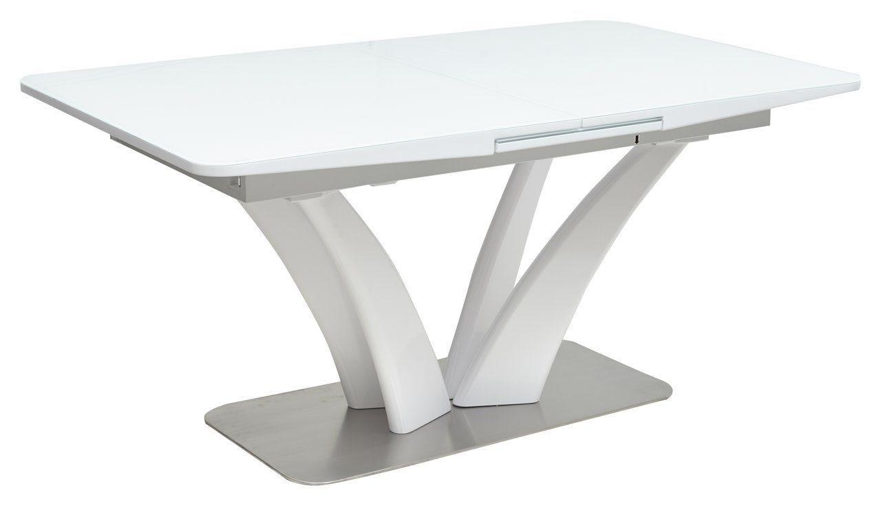 Стол стеклянный FREYA 160 см. раздвижной WHITE белый (арт. М4456)