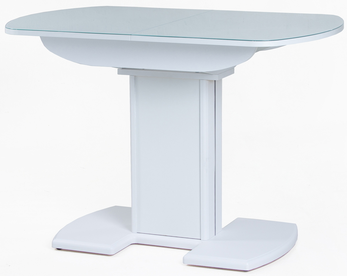 Стол обеденный Гала-20 белый раздвижной, стеклянный (арт. М4321)