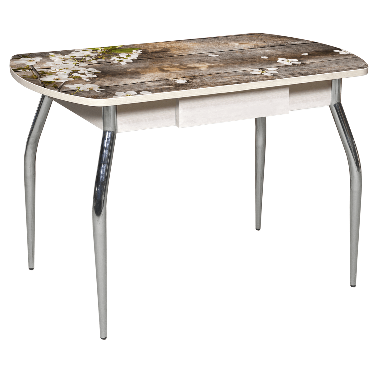Стол с ящиком фотопечать нераздвижной 110х70 см. (арт. М4390)
