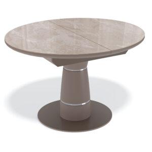 Стол KENNER BR1100 капучино стекло камень капучино М4521