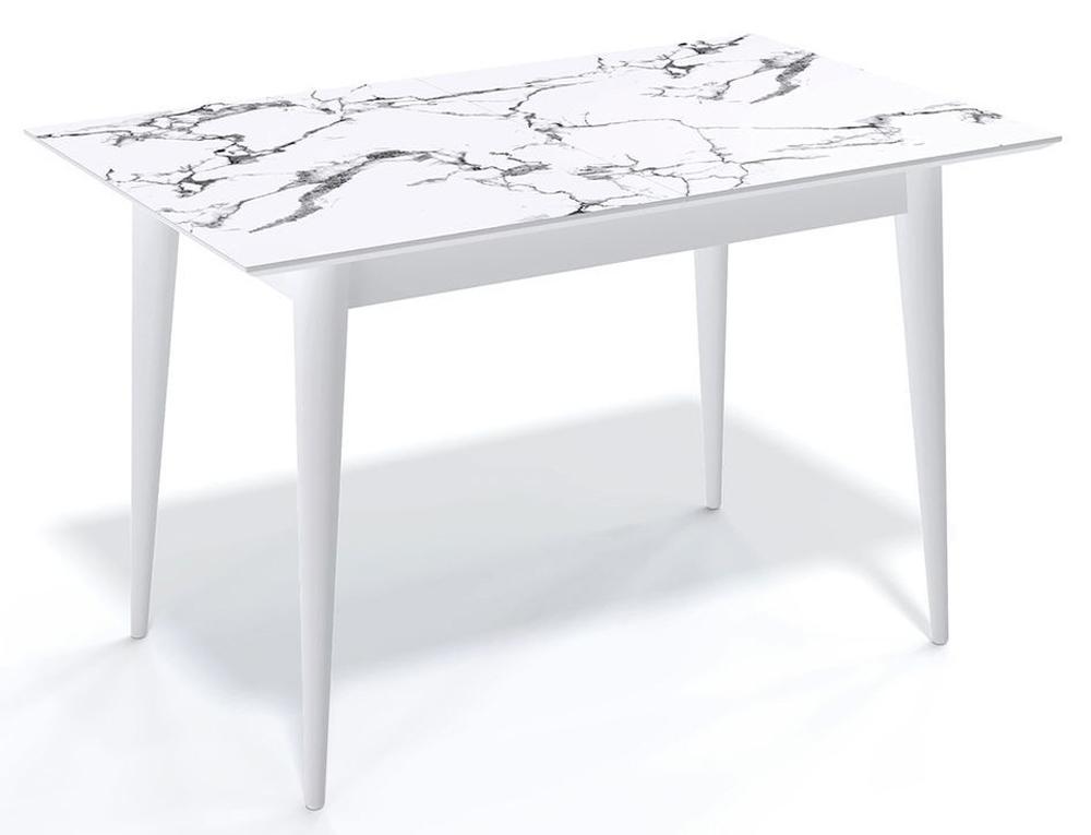 Кухонный стол KENNER F1200 белый мрамор (арт. М4518)