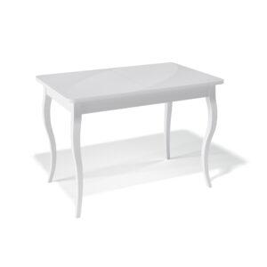 Стол Kenner 1100C обеденный, раздвижной, стеклянный, белый матовый М4470