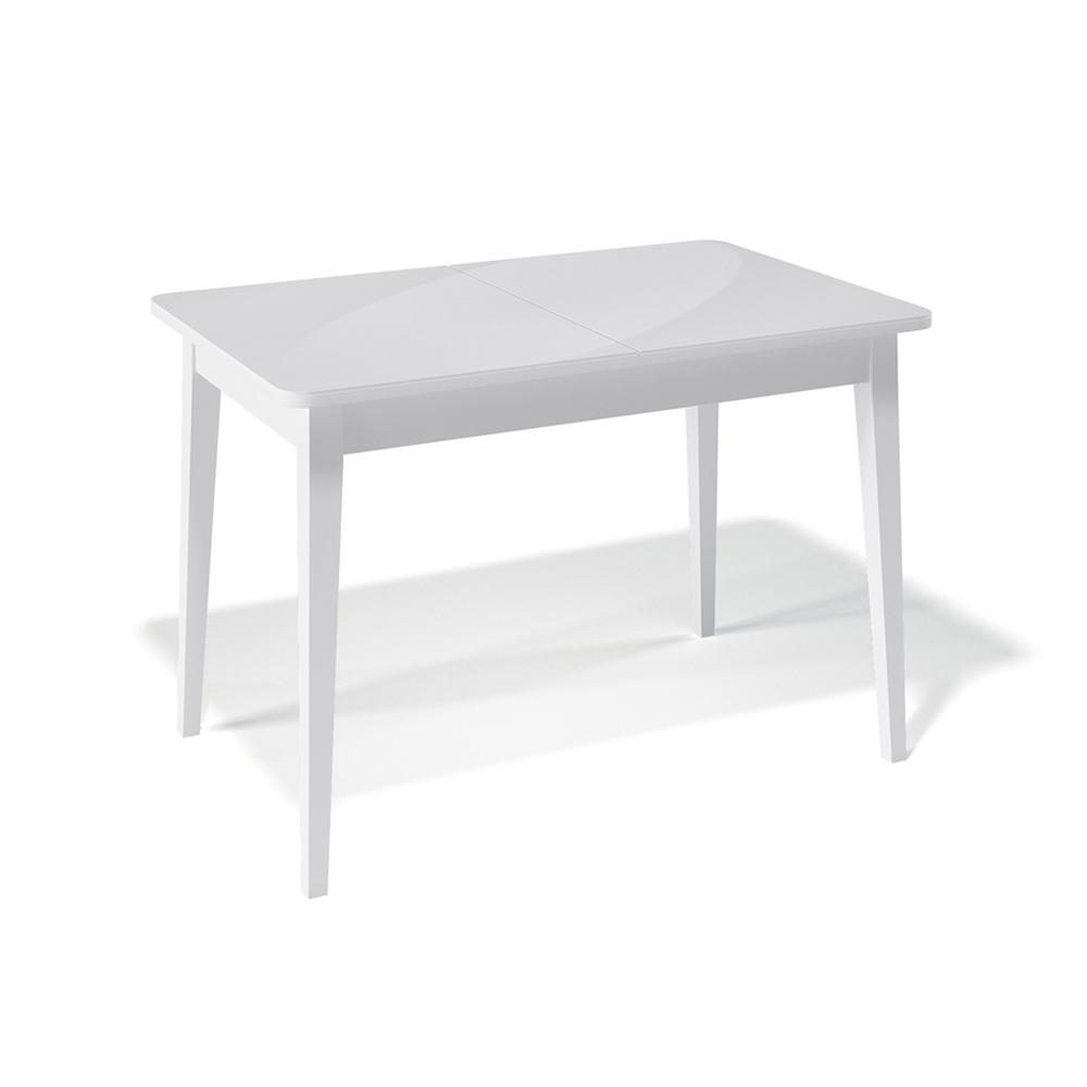 Стол Kenner 1100М белый, стекло белое (арт. М4469)