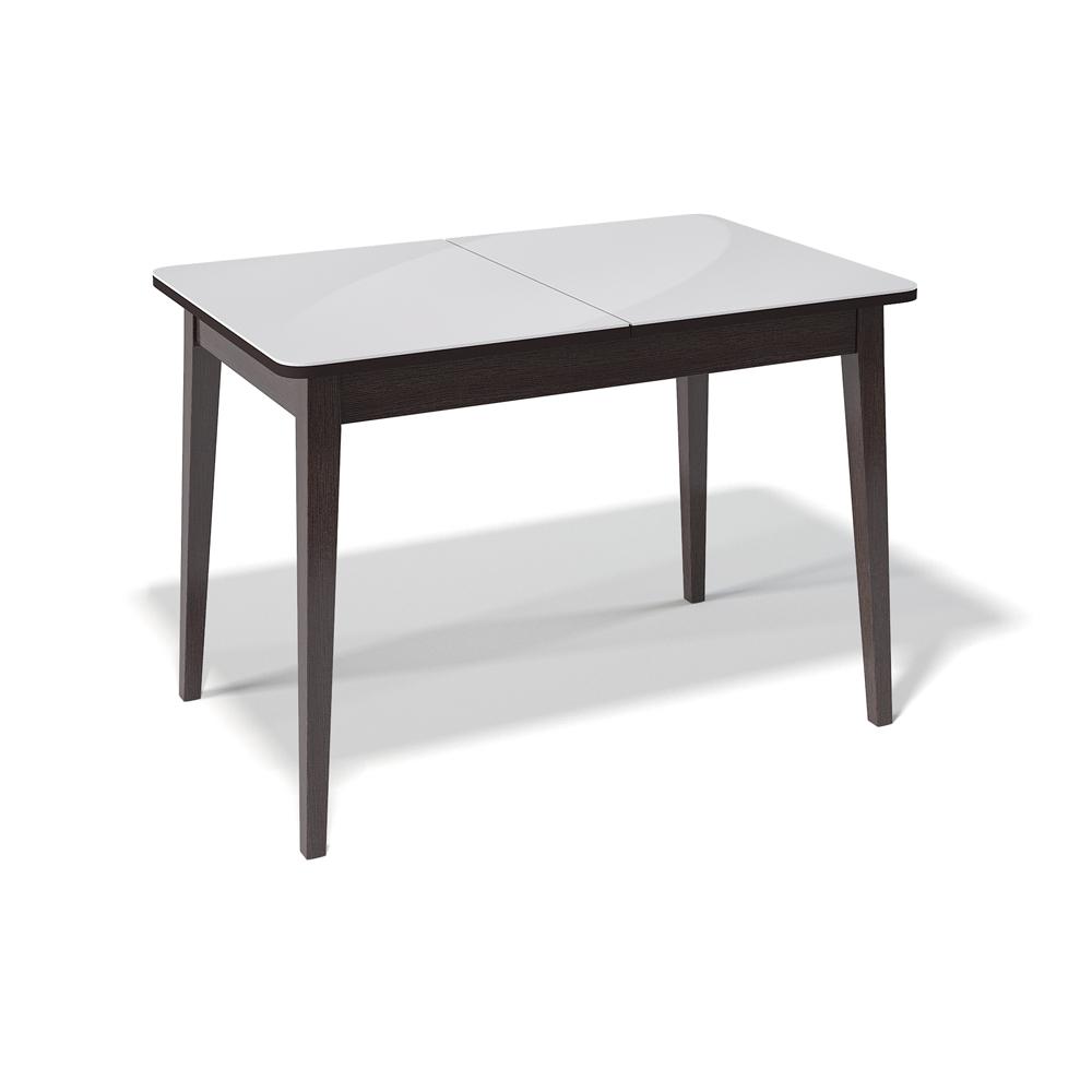 Стол Kenner 1100M венге стекло белое глянец (арт. М4471)