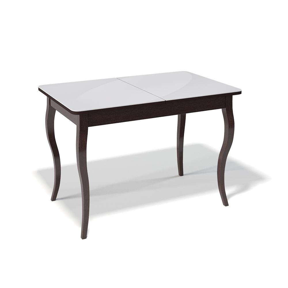 Обеденный стол, венге с гнутыми ножками (арт. М4472)