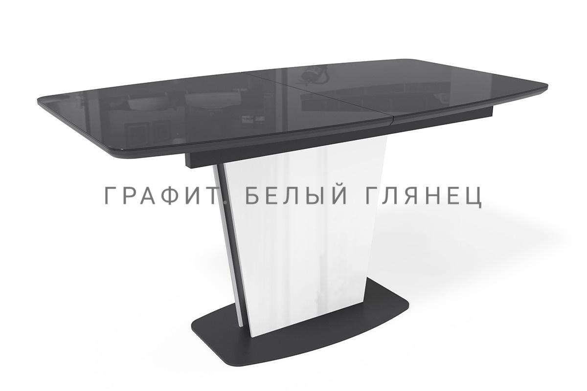 Стол Лион стеклянный раздвижной 160, 180, 200 и 220 см. (арт. М4450)