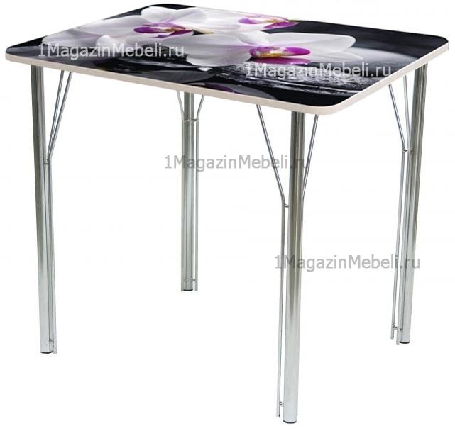 Стеклянный стол для маленькой кухни не раздвижной 80х60 см. (арт. М4308)