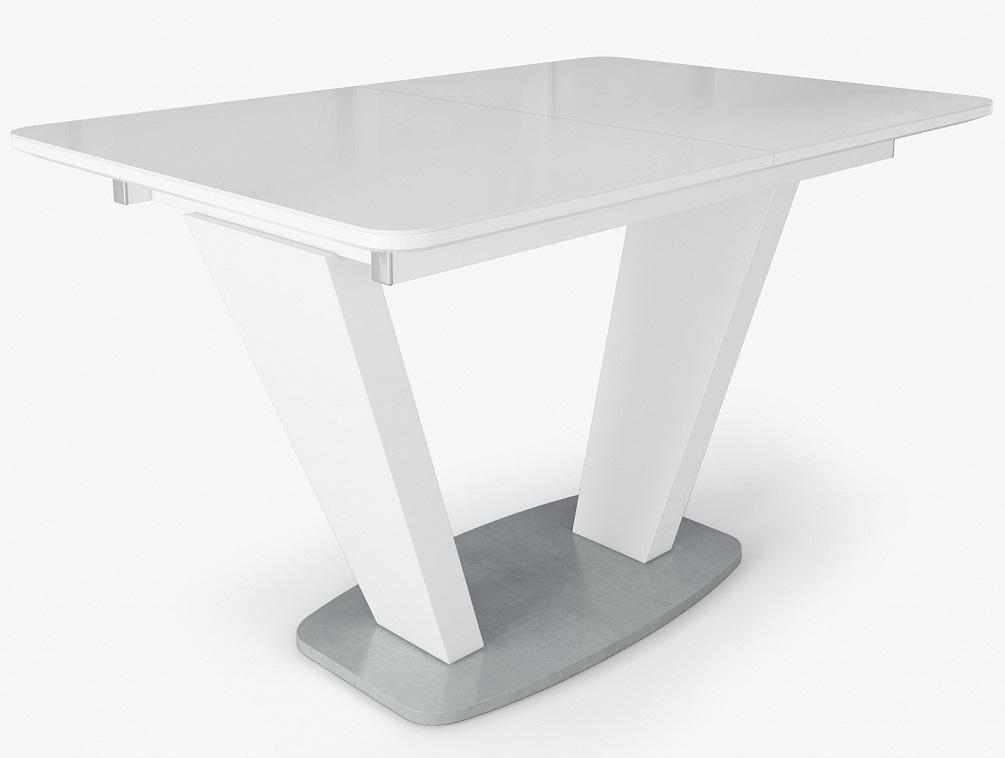 Стол в современном стиле белый, раздвижной 120 см. (арт. М4388)