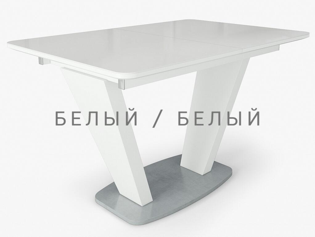 Стол обеденный Прага раздвижной 120х80 см. закаленое стекло (арт. М4386)