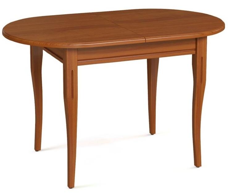 Стол овальный кухонный из дерева, цвет орех, раздвижной 120*80 см. (арт. М4336)