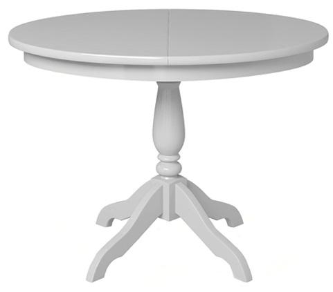 Стол кухонный овальный белый, раздвижной 106 см. (арт. М4286)