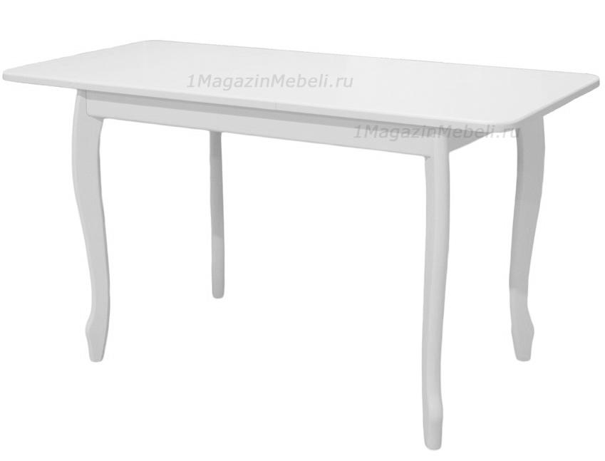 Стол белый кухонный, раздвижной из дерева 108 -138 см. (арт. М4294)