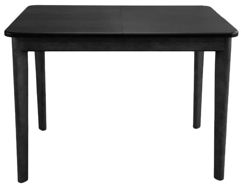 Стол деревянный черный, 108 см. раздвижной (арт. М4410)