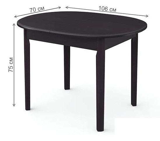 Стол кухонный деревянный венге 106х70 см. овал (арт. М4372)