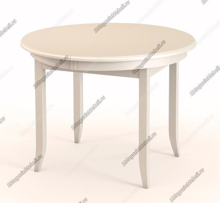Стол слоновая кость, круглый 100 см., раздвижной (арт. М4256)