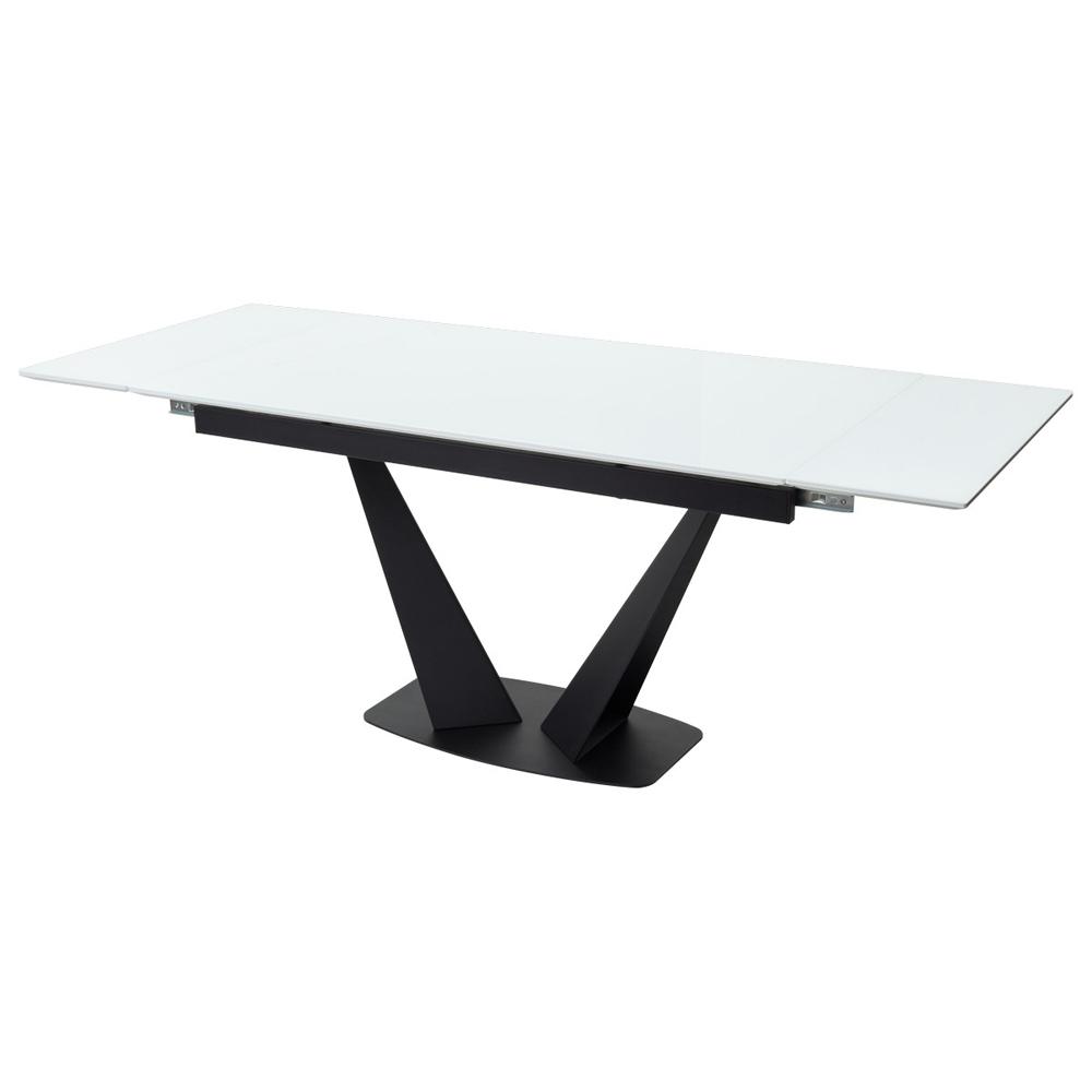 Стеклянный обеденный стол, прямоугольный, раздвижной (арт. М4533)