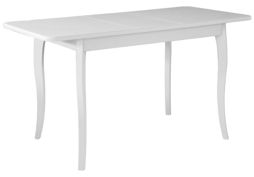 Стол кухонный белый с изогнутыми ножками, деревянный 108 см. (арт. М4411)